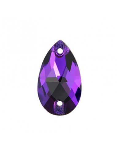 Stone sew on Drop mm 28x17 Purple Velvet