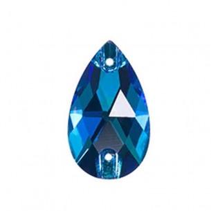 Confezione Pietra da cucire Goccia mm 18x10,5 Capri Blu
