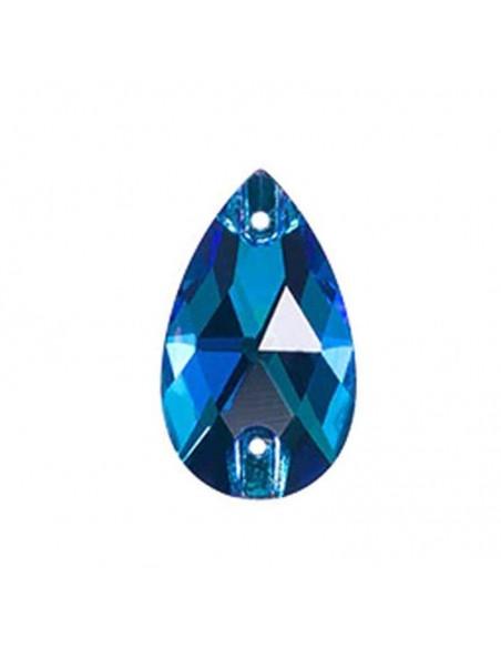 Stone sew on Drop mm 18x10,5 Capri Blu
