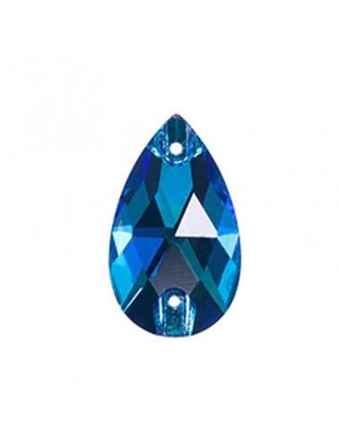Stone sew on Drop mm 28x17 Capri Blu