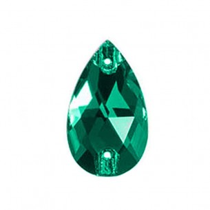 Stone sew on Drop mm 18x10,5 Emerald