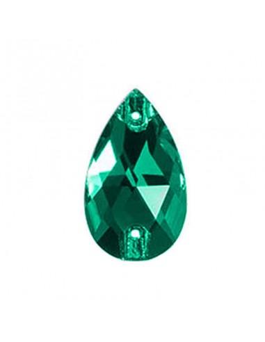 Stone sew on Drop mm 18x10,5 Emerald