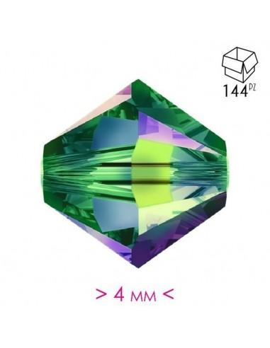 Bicono in Cristallo mm 4 Vitrail - 144PZ