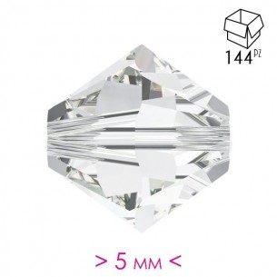 Bicone in Crystal Crystal 5 mm - 144Pcs