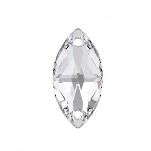 Pietra da cucire  Navetta mm 12x6 Crystal