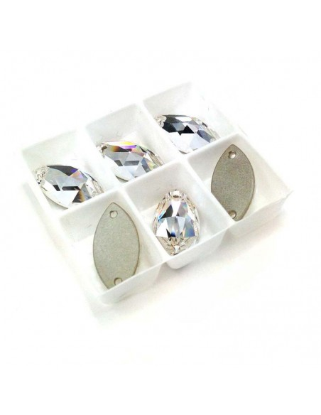 Pack Stone sew on  Shuttle 12x6 mm Crystal