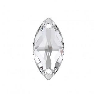 Pietra da cucire Navetta mm 18x9 Crystal