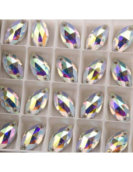 Pack Stone sew on Shuttle 12x6 mm Crystal AB