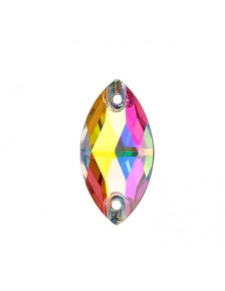 Stone sew on  Navetta mm 18x9 Crystal AB