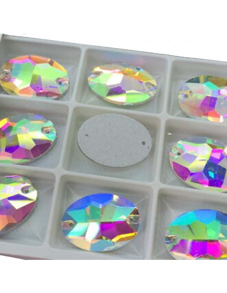 Pack Stone sew on  Oval 16x11 mm Crystal AB