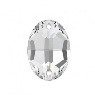 Pietra da cucire  Ovale mm 10x7 Crystal