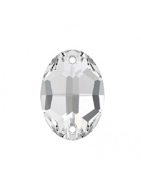 Stone sew on  Oval 10x7 mm Crystal