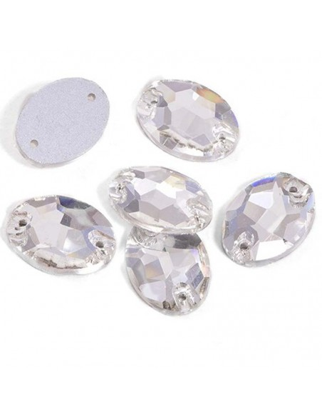 Pack Stone sew on  Oval 10x7 mm Crystal