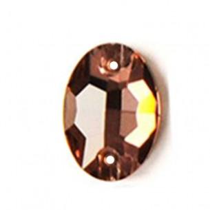 Stone sew on Oval mm 16x11 Lt. Smoke Topaz