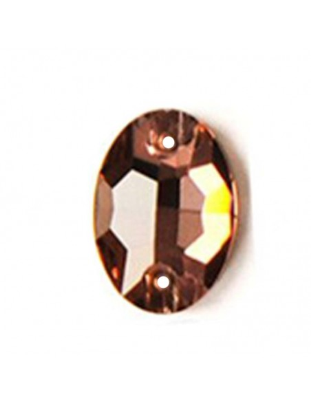 Stone sew on  Oval mm 24x17 Lt. Smoke Topaz