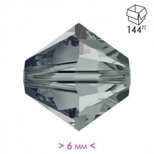 Bicone  Bl. Diamond 6 mm -...
