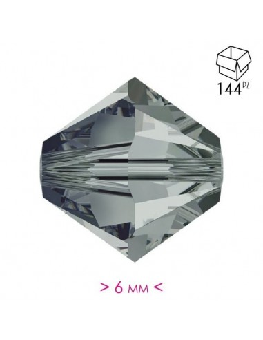 Bicone  Bl. Diamond 6 mm - Pack 144 pcs