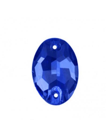 Stone sew on  Oval 24x17 mm Capri Blu