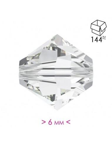 Bicono in Cristallo mm 6 Crystal - 144PZ