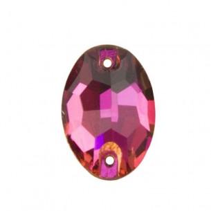 Pietra da cucire  Ovale mm 24x17 Fuchsia