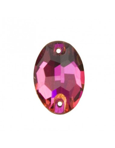 Stone sew on  Oval mm 24x17 Fuchsia