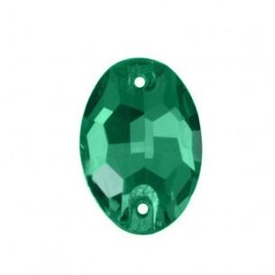 Pietra da cucire  Ovale mm 24x17 Emerald