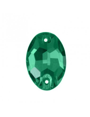 Stone sew on Oval mm 24x17 Emerald
