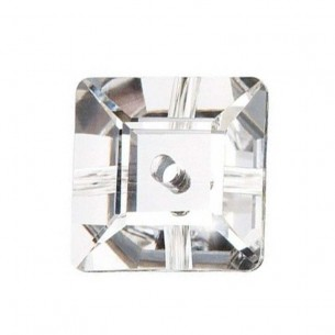 Pietra da cucire Quadrato 1 foro mm 6 Crystal
