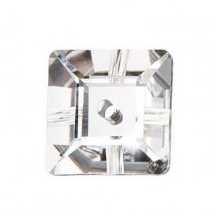 Pietra da cucire Quadrato 1 foro mm 10 Crystal