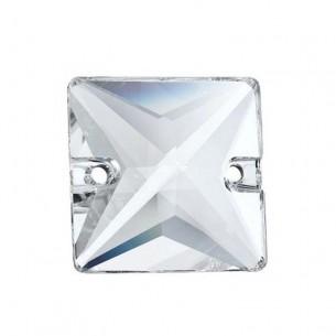 Pietra da cucire  Quadrato mm 22 Crystal
