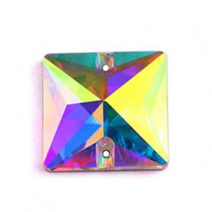 Pietra da cucire  Quadrato mm 16 Crystal AB