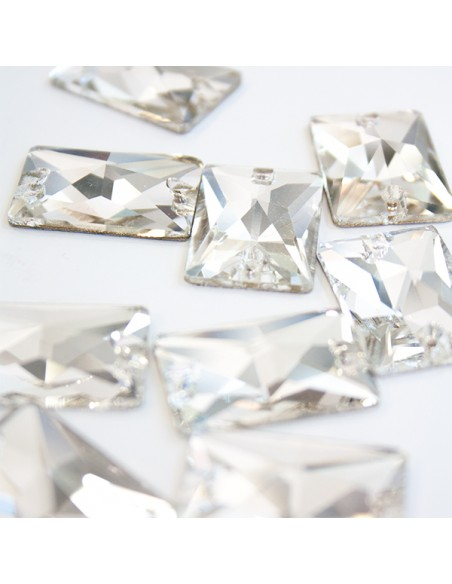 pack Stone sew on Rectangle 25x18 mm Crystal