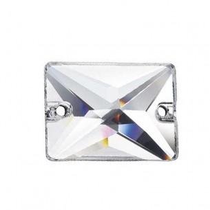 Pietra da cucire  Rettangolo mm 25x18 Crystal