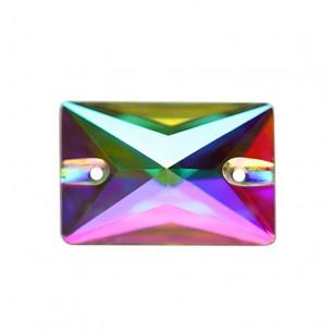 Pietra da cucire Rettangolo mm 18x13 Crystal AB