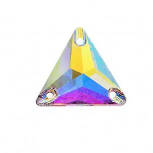 Pietra da cucire Triangolo mm 22 Crystal AB