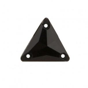 Pietra da cucire Triangolo mm 16 Jet Hematite
