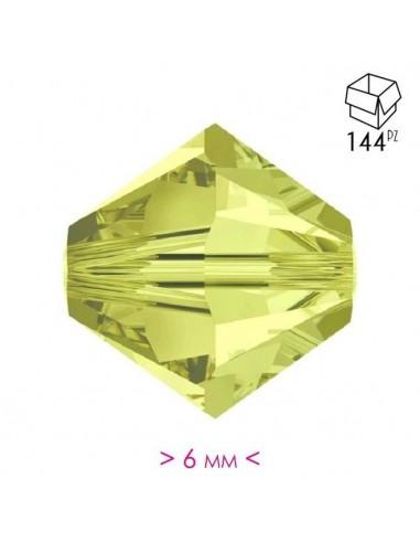 Bicono in Cristallo mm 6 Jonquil - 144PZ