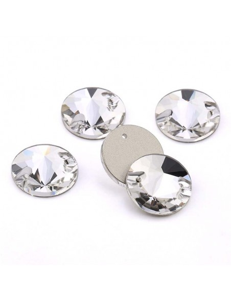 pack Stone sew on Round mm 12 Crystal