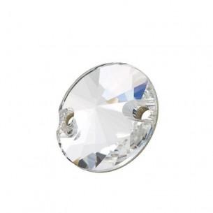 Pietra da cucire Tondo mm 14 Crystal