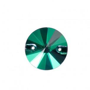 Pietra da cucire Tondo mm 14 Emerald