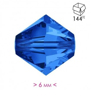 Bicone Sapphire 6 mm - Pack...