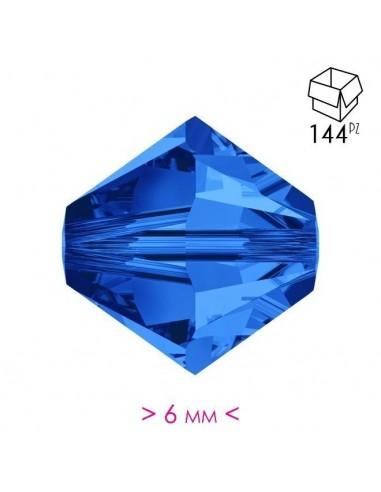 Bicono in Cristallo mm 6 Sapphire -...