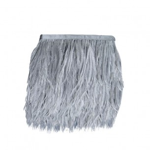 Fringe Sewing Grey Ostrich Feathers