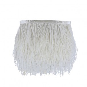 Fringe Sewing Off White Ostrich Feathers