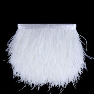 Fringe Sewing White Ostrich Feathers