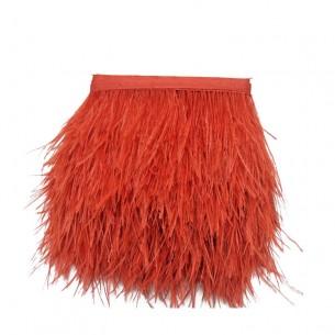 Frangia da cucire Piume di Struzzo Rosso pacco