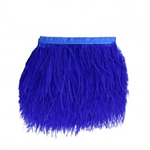 Fringe Sewing Sapphire Ostrich Feathers