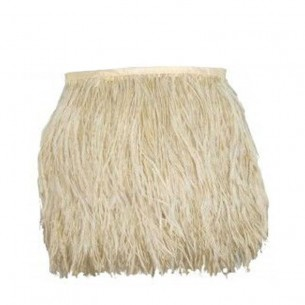 Fringe Sewing Beige Ostrich Feathers