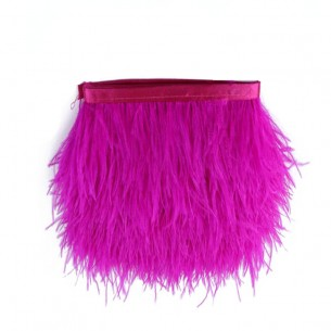 Fringe Sewing Fuchsia Ostrich Feathers