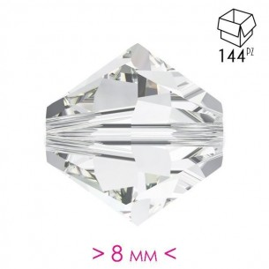 Bicone Crystal 8 mm  - 144 pcs